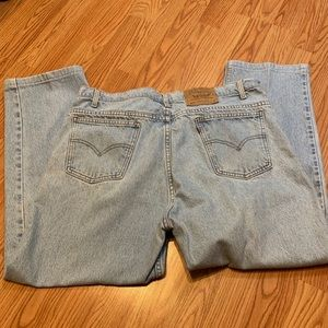 LEVI'S 505 Orange Tab Straight Leg Jeans 40 X 32